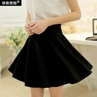 Short half-length skirt female slim basic pleated skirt pants puff umbrella skirt plus size