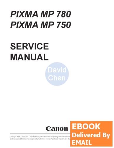 EBOOK PDF]Canon Pixma MP750 MP780 Printer Service Manual-Canon(China ...