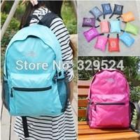 New 2014 Nylon Waterproof Folding Solid Men and Women Backpack Sport Backpack