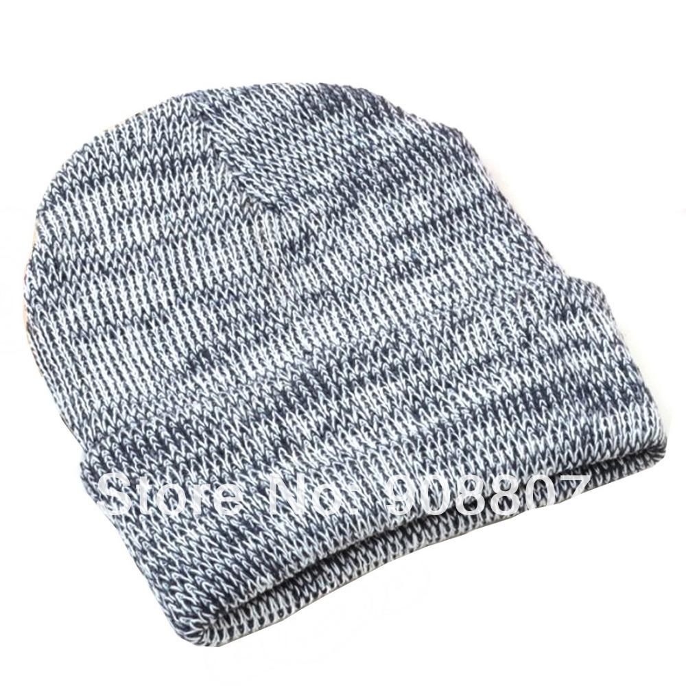 Mens Slouchy Beanie Knit Pattern : Etang-Free-Shipping-Men-Women-Unisex-Girl-Stripes-Pattern-Slouchy-Knit-Beanie...