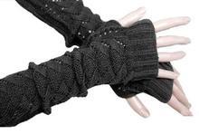 Free Shipping !!!Women Crochet Knit  Stretch Long  Arm Warmer (Dark Gray,1 Pair)(China (Mainland))