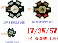 Freeshipping!5 pcs 1W 3W 5W  Infrared IR 850NM High Power LED Bead Emitter DC1.5-1.7V with 20mm Star Platine Base for Security
