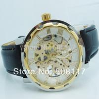 DHL express free shipping to USA 58PCS/lot Wholesale cheap skeleton watches men