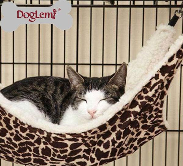 Freeshipping! 2014 stampato leopardo moda gatto amaca tempo selvaggio gatto furetto gabbia sintetico lana d'agnello amaca letti gatto moda