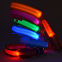 Free Shipping 2014 Lefdy Glow Pet Dog LED Stripe Collar Safety necklace Flashing Lighting Up
