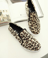 high quality2014 fashion spring and summer   women's slip on leopard print casual rivet Loafer flats shoes drop shopping 30