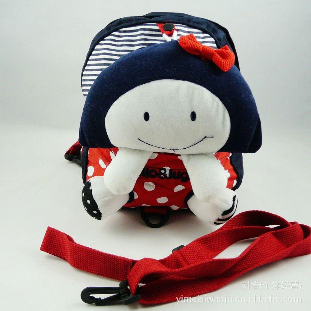 Розничные продажи корейский чистый хлопок младенцы питомник анти-потерянный мешок дети рюкзак дети школьный