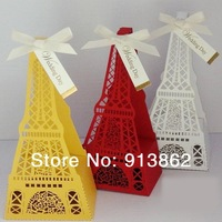 30 pcs Creative Eiffel Tower Wedding Gown Favor Box, Birthday Favors bags Favor Boxes Party gift Boxes for candies