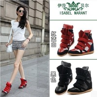 2014 Europe new star higher flat high-top casual boots as same as star wear free shipping