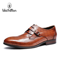 Blaihilton crocodile pattern fashion trend of the formal shoes genuine leather formal leather bp30066