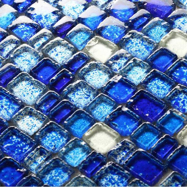 Online kopen wholesale metallic blauw uit china metallic blauw groothandel - Deco mozaieken badkamer ...