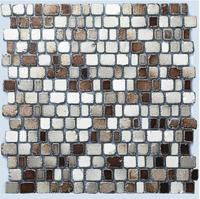 Stone looking glass tile kitchen backsplash free size brown mosaics bath wall stickers new tiles ideas flooring tiling US style