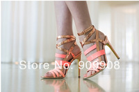 2014 Deliciously Strappy Sandals Women High Heel Wedding Dress Shoes Summer Shoes For Women