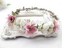 Wedding kids floral crown artificial flowers silk daisy PE foam rose Hawaii head wreath DIY ornaments NW037