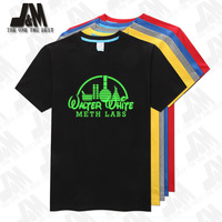 walter white meth labs shirt Shirt T-Shirt Breaking Bad 100% Official 5 colors S-6XL Glowed T Shirt