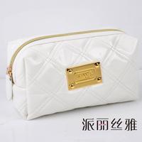 LZ bags Beatrice dimond white plaid cosmetic bag quality PU day clutch bag Small mini storage bag