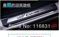 Free shipping Chevy Cruze2008-2014 high-quality 304#stainless steel scuff plate door sill 4pcs/set car accessories for cruze