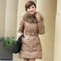free shipping Hot-selling women's 8051 winter medium-long big raccoon fur down coat winter slim women's  down jacket