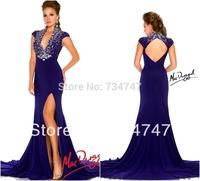 2014 New Arrival Mermaid Split Side Long Formal Gown Prom Dresses