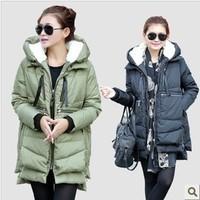 free shipping 9556 winter women's down coat long frock design  down coat