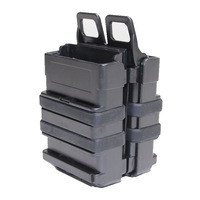 Pack of 2 pcs Tactical Fastmag 5.56mm Style Molle Polymer Mag Pouch Fits M4 Suit For Airsoft Paintball