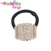 Designer Fashion Vintage Beads Rhinestone Hairtie Hair band Ponytail Holder Accessories For Women Girls Jewelry  Free Shipping