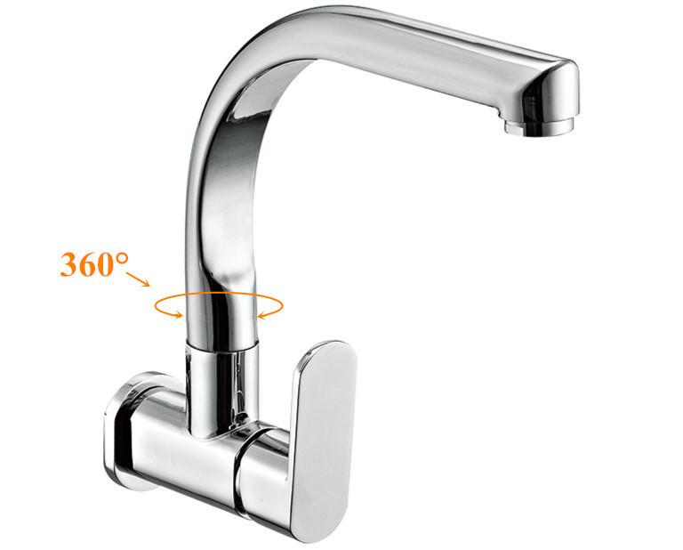 Keukenkraan Muur : Kitchen Sink Wall Faucet