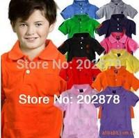 Promotions!  summer kids polo boy shirt clothing  short-sleeved lapel shirt boys clothes