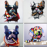 Modern brief decoration oil painting paintings picture frame mural animal dog