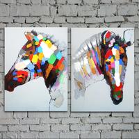 For dec  orative painting entranceway mural hand painting oil painting horse frameless paintings animal