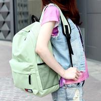 Free shipping Solid color nylon  2013   school bag preppy style   women backpack pupil backpacks high school bookbag