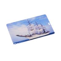 Sailing Vessel Pattern Credit Card Style USB Flash Memory Drive