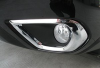 New! Free shipping! ABS Chrome Front Head Fog Light Lamp cover Trim For Subaru Forester 2013 2014