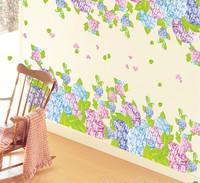 Hydrangea flower romantic decoration tv wall stickers am7024