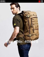 2014 new Outdoor Waterproof Backpack genuine male shoulders mountaineering bags 50L hiking backpack outdoor tourism travel