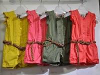 Wholesale --2014 new girls jumpsuit summer girls Conjoined shorts 5pcs/1lot