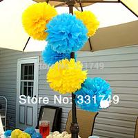 5pcs*8 inches Tissue Paper POMPOMS Flower Balls Home Decor  Festive & Party Supplies Wedding Favors