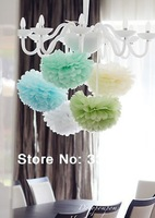 5pcs*10 inches Tissue Paper POMPOMS Flower Balls Home Decor  Festive & Party Supplies Wedding Favors