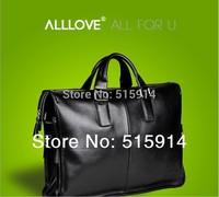 Genuine leather handbag brand of high-end men 14/15/17 inch leather laptop bag men shoulder bag business
