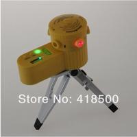 Free Shipping! Wholesale! Laser06 Mutifutional ABS Plastic Laser Level Measuring Tool Laser Spirit Level Laser line