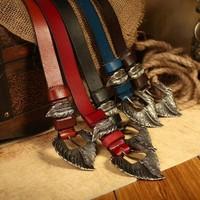 100% Genuine Leather Belts for Women Vintage Matel Buckle Women's Belt Fashion Female Strap Cintos femininos 2014 WBT0050