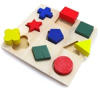 Free Shipping!1pc retail Educational wood toy baby toys children Multifunction Baby Early Learning Wooden puzzle 9 pieces