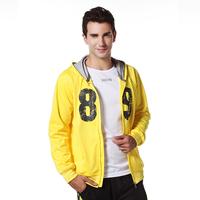 New arrival leevy spring cardigan with a hood casual sports sweatshirt male lzma-10618