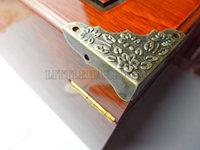free shipping 100PCS 37mmX37mmX9mm  Antique Brass Jewelry Box Corner