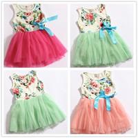 2014summer girls' dresses 2013 kids dress baby dress tutu girl dresses casual girls clothes YS01