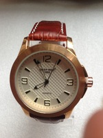 2014 new rose gold luxury watches men high quality leather strap casual dress quartz watches