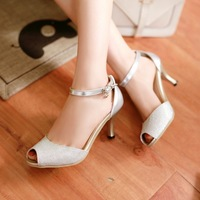 2014 summer sandals open toe shoe comfortable hasp fashion gentlewomen women's casual shoes