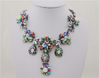 2014 new Brand Fashion trends Necklace Gorgeous Choker Statement Necklaces Exaggerated Alloy Vintage Necklace