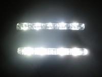 Free Shipping 2 x 5 LED White DRL Daylight Running Light Waterproof Daytime Driving Light Fog Lamp