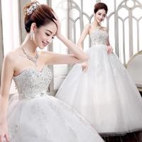 2014 hot-selling elegant high waist tube top princess pregnant wedding dress custom plus size
